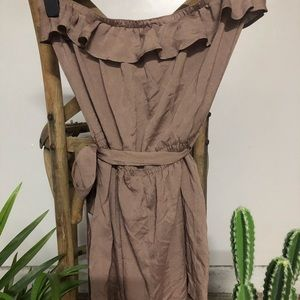 Bebe Taupe Romper Size M
